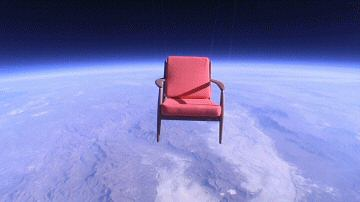 The chair at 99,200 feet