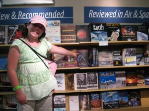 Junior JPA member Paige at the book store in the Smithsonian Air and Space Museum